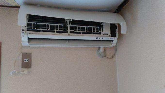 不妊鍼灸よもぎ堂の治療室のエアコン掃除