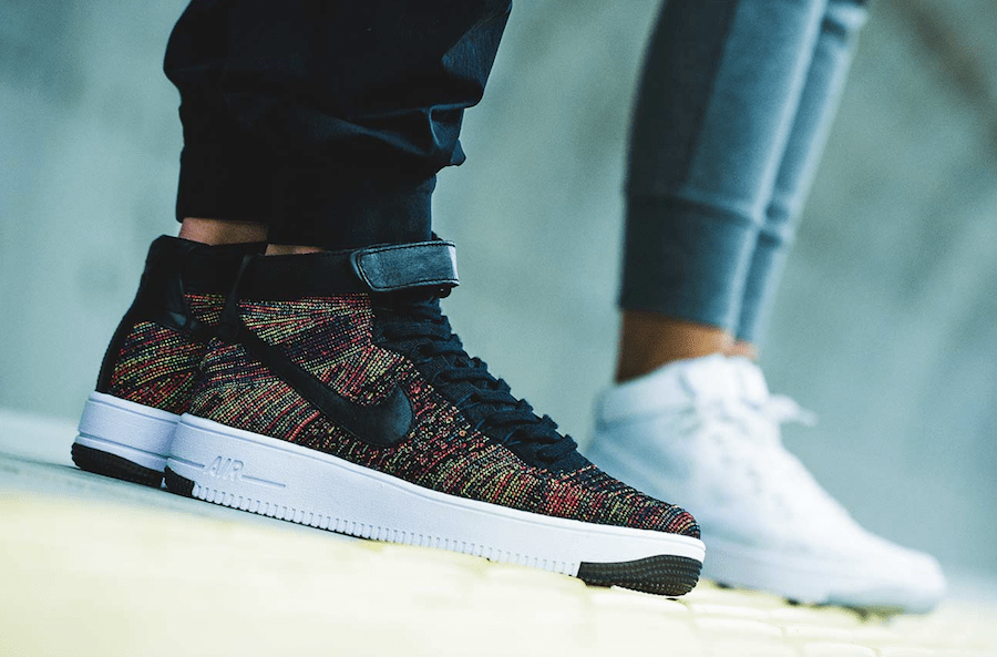 """timeless design e5cee 0e376 Following the previous Nike Flyknit Air Force 1 Mid """"Multi-color"""" , here  comes another version dubbed Nike Air Force 1 Mid Flyknit """"Multicolor"""" 2.0."""