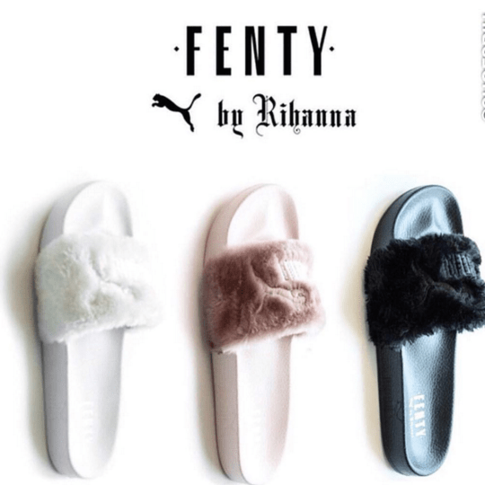 wholesale dealer 81824 2cddb RELEASE REMINDER: Rihanna x PUMA FENTY Fur Slides drops ...