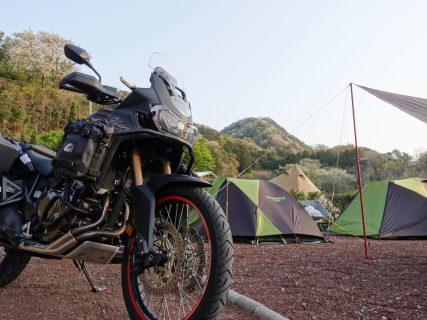 キャンプツーリング(雪見オートキャンプ場編)
