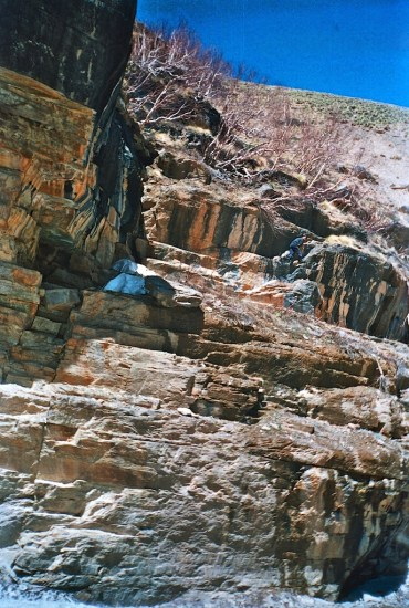 The boken mountains of Garhwal Himalayas
