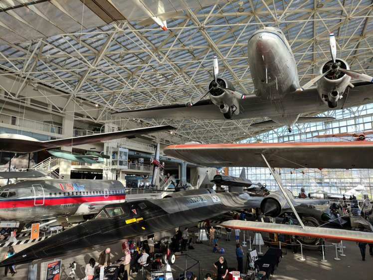 Aircraft on display while visiting the Museum of Flight in Seattle