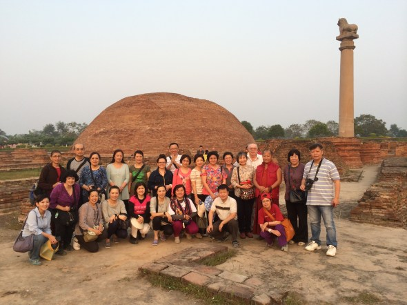 24 (Group at Ashokan Lion Pillar and Stupa in Vaishali)