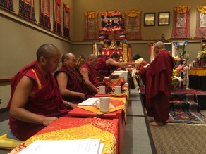 Making Offering to Rinpoche