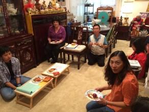 Enjoying Tsok Offering