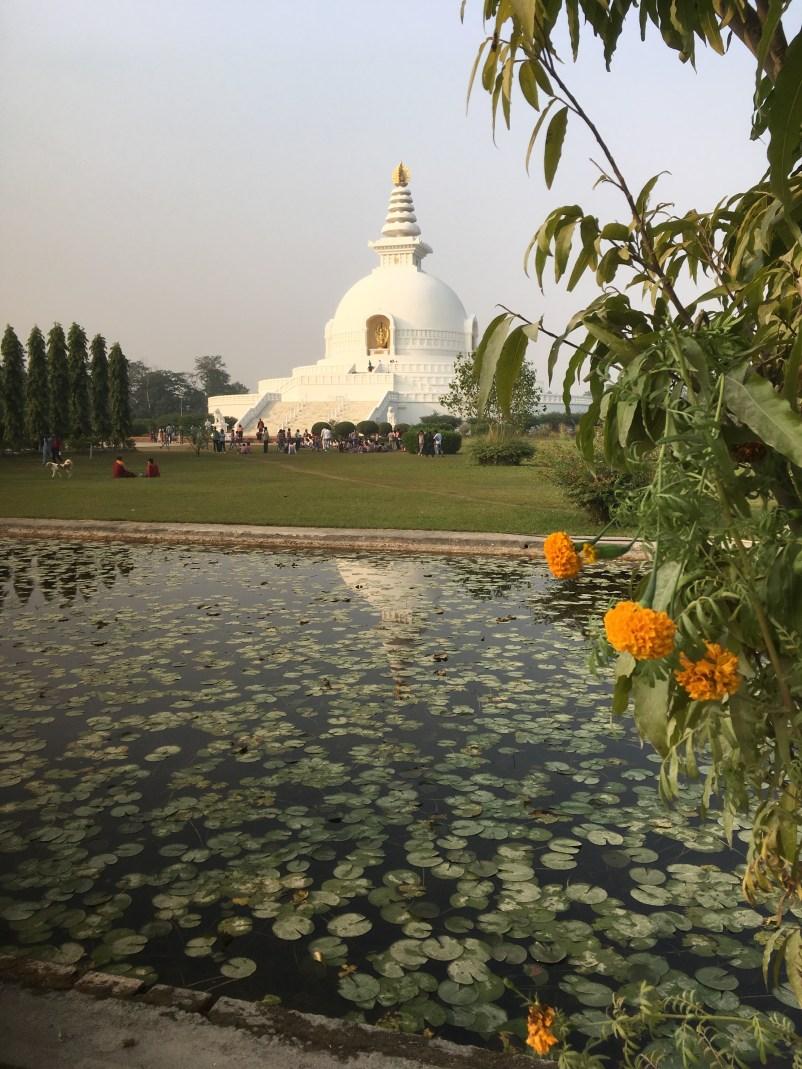 15 Peace Pagoda with flowers