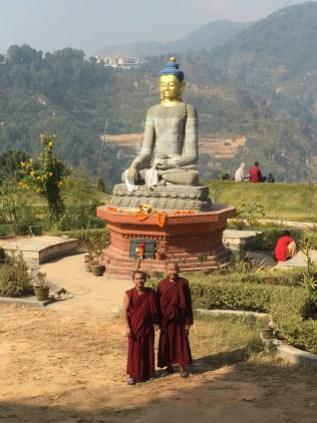 23 Lamas at Monstery Statue