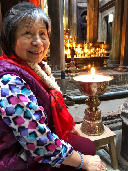 41 Dorje Palmo with Butter Lamps