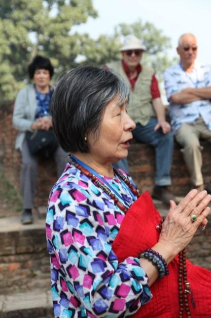 8 Dorje Palmo Praying at Kudan Site