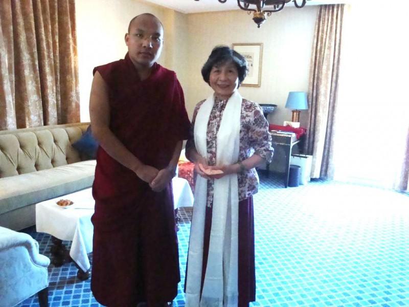 2 Dorje Palmo visit with HH Karmapa