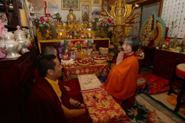 Dorje Palmo with Rinpoches