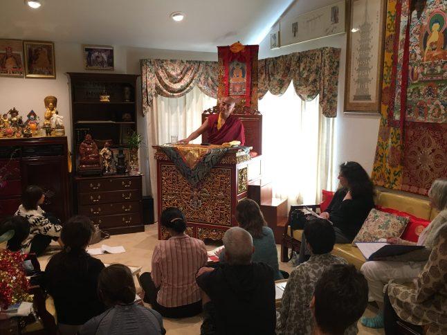 Rinpoche teaching during Retreat