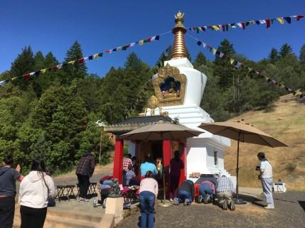 Prayers at Stupa