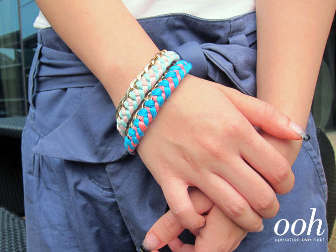 Operation Overhaul - Green Your Accessories Braided Thread Bracelet