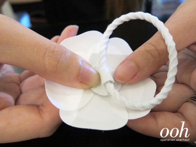 Operation Overhaul at Spruce - Chanel Camellia Hairtie 4