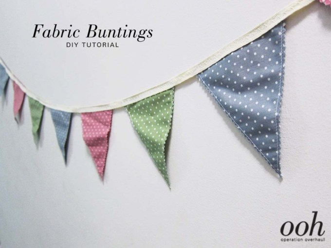 OOH - Fabric Buntings Tutorial