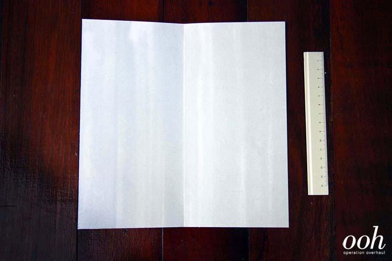 OOH - Origami Namecard Holder Step 1
