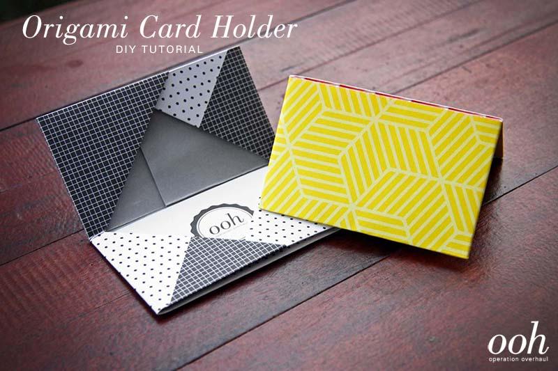 OOH - Origami Namecard Holder Tutorial