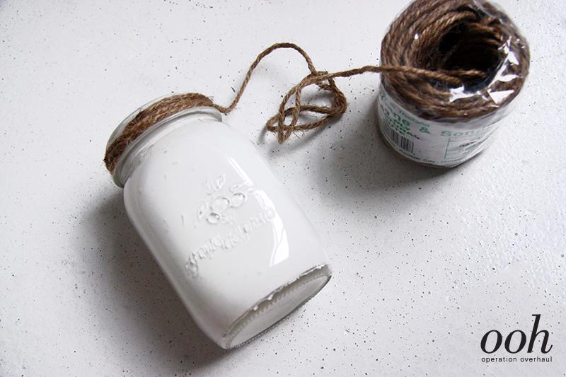 OOH - Upcycled Glass Jars Tutorial Wrap Jute