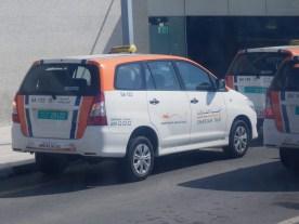 Los taxis de Sharjah...