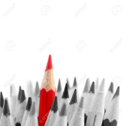 25605438-red-pencil-standing-out-from-others-stock-photo-out-stand-different
