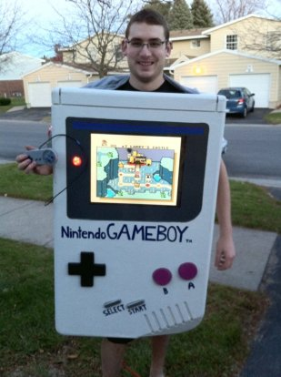 halloween deguisement adulte game boy