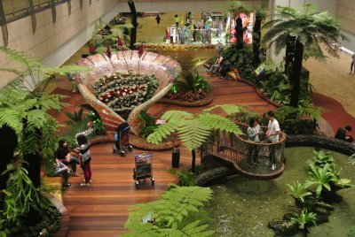 Beautiful garden in Changi Airport, Singapore