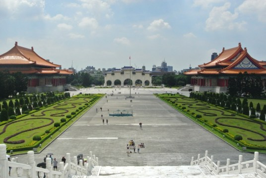 Spectacular view from Chiang Kai Sek Memorial Park