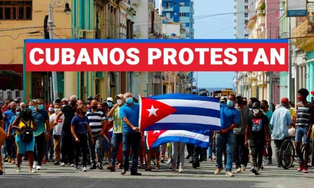 Cubanos protestan por falta de alimentos, medicinas y apagones