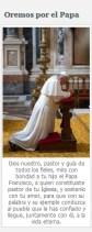 Oración por el Papa Francisco