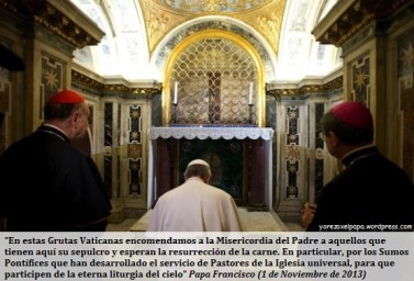 Papa Francisco_Gruta vaticana_San Pedro