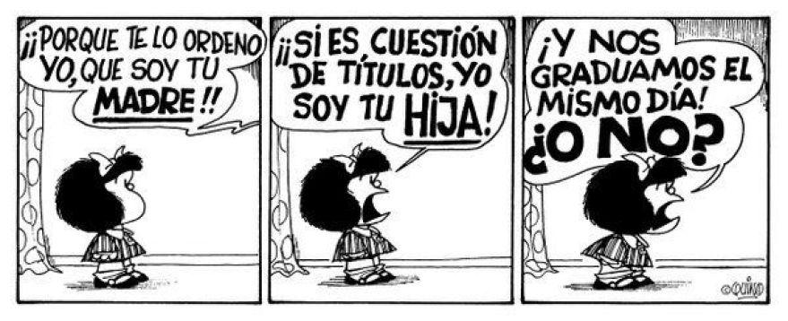 La titulación de Mafalda