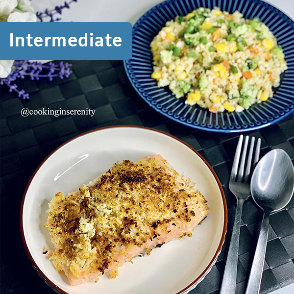 cauliflower rice & airfryer salmon