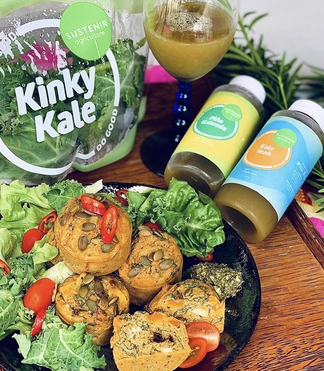 Curry Kale, Pumpkin, Paneer Muffins