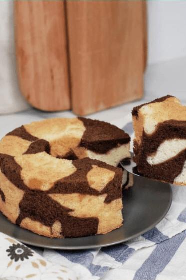 cotton soft two-tone chiffon cake baking recipe