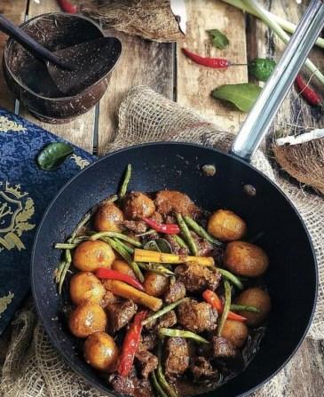 beef rendang daging hari raya food recipe