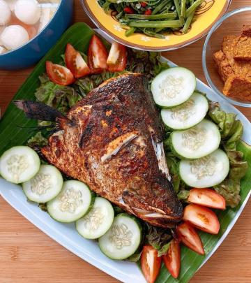 grilled sweet sauce fish