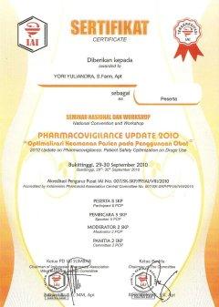 2010-09-30 - PESERTA PHARMACOVIGILANCE UPDATE