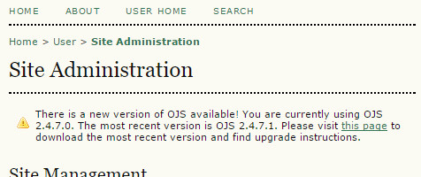 ojs update available