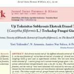 Uji Toksisitas Subkronis Ekstrak Etanol Tali Putri (Cassytha filiformis L.) Terhadap Fungsi Ginjal Tikus
