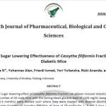 Blood Sugar Lowering Effectiveness of Cassytha filiformis Fractions on Diabetic Mice