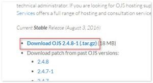 update OJS (Open Journal System)