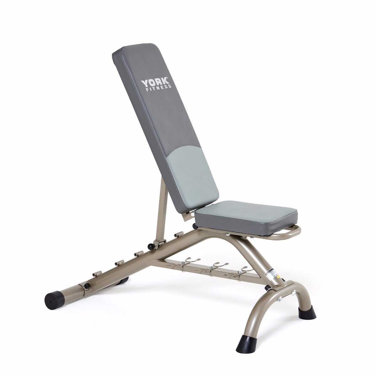Adjustable Bench Press With Fitbell Storage York Barbell