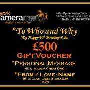 £500 Personalised Voucher
