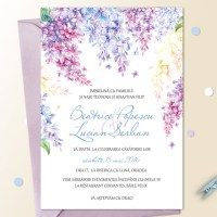 {Lilac}: Invitatii nunta cu flori de liliac