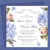 {Perles du Jardin}: Invitatii nunta cu bujori, hortensii si lavanda