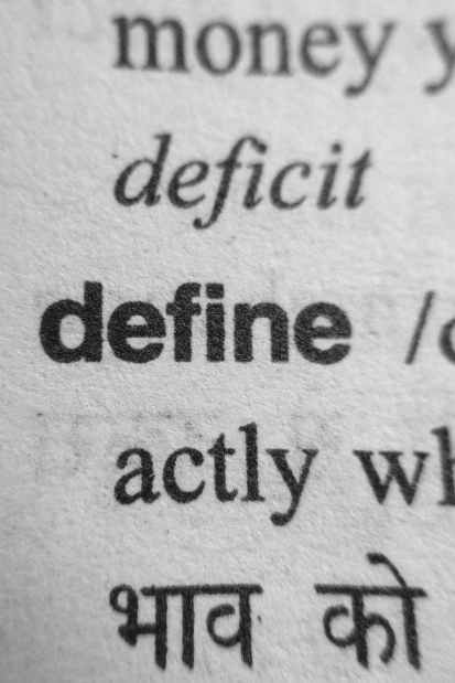 word define on spelling dictionary page