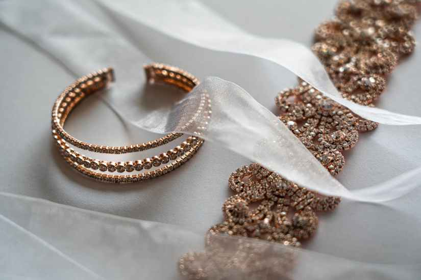 close up photography of jewelry