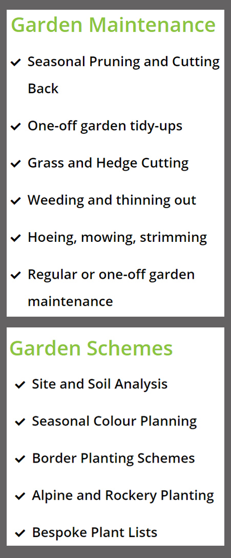 York Gardening Services Menu