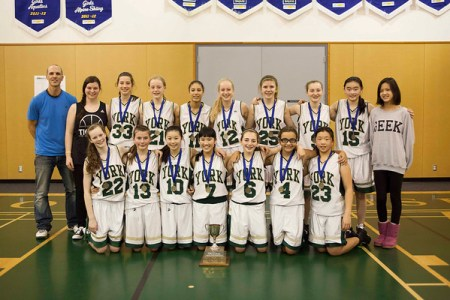 Gr. 8 Basketball Team - ISA Champions